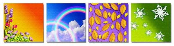De vier seizoenen Royalty-vrije Stock Afbeeldingen