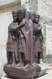 De Vier Tetrarchs Standbeelden Stock Afbeeldingen