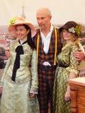 De Vierde Internationale Historische Festivaltijden en de Tijdvakken 1914-2014, Kolomenskoye, Moskou Royalty-vrije Stock Foto's