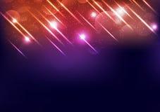 De viering speelt lichte straal mee die, glanzend festival, explosie gloeiende decoratie, van de straalmotie abstracte vector als stock illustratie