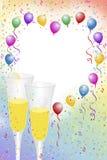 De viering van Champagne Royalty-vrije Illustratie