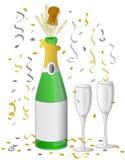 De viering van Champagne/eps Stock Foto's