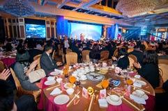 De viering van Chinees Nieuwjaar komt voor diner Royalty-vrije Stock Afbeeldingen