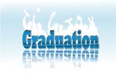 De viering van de graduatie in silhouet Royalty-vrije Stock Fotografie