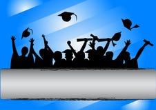 De Viering van de graduatiedag Stock Afbeelding