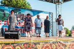 De viering van de jeugddag in het Kaluga-gebied in Rusland op 27 Juni 2016 Stock Foto's