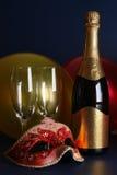 De viering van de nieuwjaarsdag Stock Foto