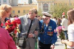De viering van de overwinningsdag in Moskou, 2013 royalty-vrije stock foto