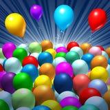 De viering van de partij Stock Foto