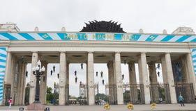 De viering van de valschermjagersdag in het Park van Gorky Royalty-vrije Stock Afbeelding