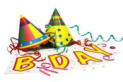 De Viering van de verjaardag! Stock Foto