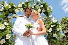 De viering van het huwelijk stock afbeeldingen