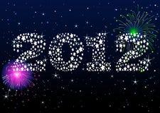 De Viering van het nieuwjaar royalty-vrije illustratie