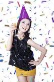 De Viering van het nieuwjaar Stock Foto's
