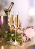 De Viering van het nieuwjaar Stock Afbeeldingen