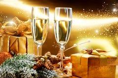 De Viering van het nieuwjaar en van Kerstmis Royalty-vrije Stock Afbeeldingen