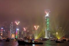 De Viering van het nieuwjaar in Hongkong 2012 Stock Foto