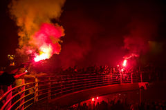 de Viering van de het 92ste Jaarverjaardag van Goztepe-Sportclub Stock Afbeelding