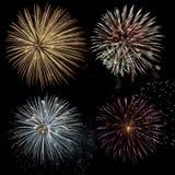 De Viering van het vuurwerk Stock Fotografie