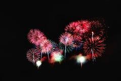 De Viering van het vuurwerk stock afbeelding