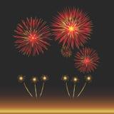 De Viering van het vuurwerk Stock Afbeeldingen