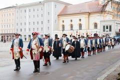 De viering van Inauguratie van de nieuwe aartsbisschop in Oostenrijk Stock Fotografie