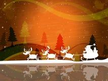 De Viering van Kerstmissanta indicates father christmas and Stock Foto