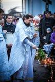 De Viering van Pasen in de Orthodoxe Kerk Stock Afbeelding