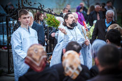 De Viering van Pasen in de Orthodoxe Kerk Royalty-vrije Stock Afbeelding