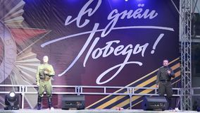 De Viering van Victory Day On 9 Mei stock footage