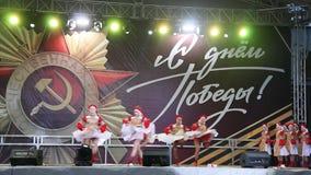 De Viering van Victory Day On 9 Mei stock videobeelden
