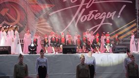 De Viering van Victory Day On 9 Mei stock video