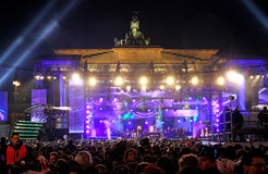 De vieringen van het nieuwjaar in Berlijn, Duitsland Royalty-vrije Stock Afbeeldingen