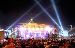De vieringen van het nieuwjaar in Berlijn, Duitsland Stock Foto's