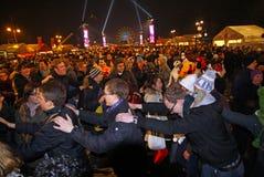 De vieringen van het nieuwjaar in Berlijn, Duitsland Royalty-vrije Stock Foto's