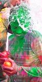 De vieringen van Holi in India. Royalty-vrije Stock Afbeelding