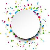 De vieringsachtergrond van confettien Royalty-vrije Stock Afbeelding