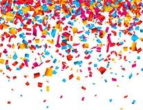 De vieringsachtergrond van confettien Royalty-vrije Stock Foto