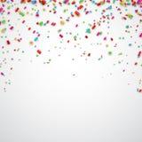 De vieringsachtergrond van confettien Stock Foto's