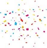 De vieringsachtergrond van confettien Stock Afbeeldingen