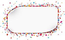 De vieringsachtergrond van confettien Stock Foto