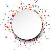 De vieringsachtergrond van confettien Stock Afbeelding
