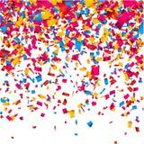 De vieringsachtergrond van confettien Stock Fotografie