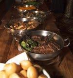 De Vieringsbuffet van het hotelrestaurant Royalty-vrije Stock Fotografie