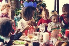 De Vieringsconcept van familie samen Kerstmis Royalty-vrije Stock Afbeelding