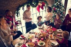 De Vieringsconcept van familie samen Kerstmis stock foto