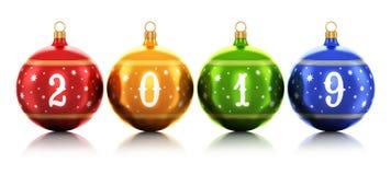 De vieringsconcept van de nieuwjaar 2019 vakantie stock illustratie
