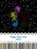 de vieringskaart van 2012 Stock Afbeelding