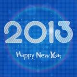 de vieringskaart van 2013 Stock Afbeelding