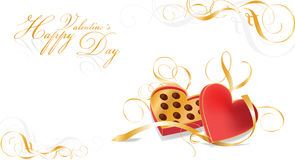 De vieringskaart van valentijnskaarten vector illustratie